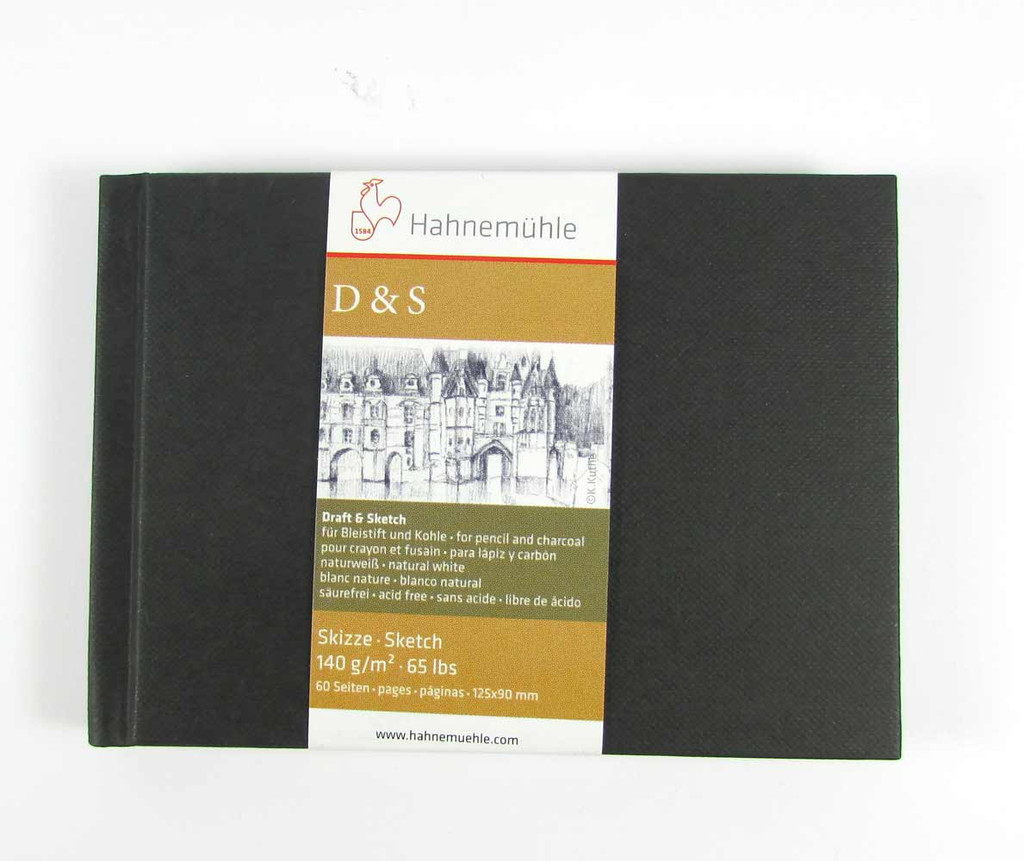 Hahnemuhle D&S Sketchbook 140gsm | Various Sizes/Colours - A6 landscape in black