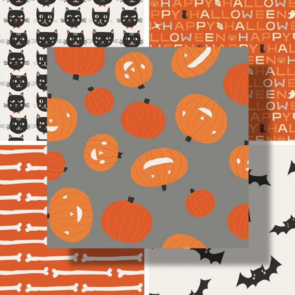 Cats, Bats and Jacks   Riley Blake   Individual Fabrics - Main Image