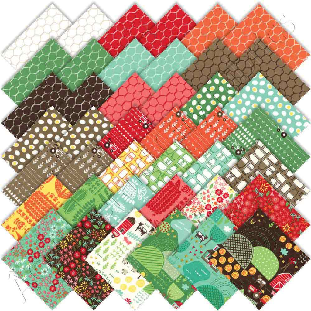 Farm Fun | Stacy Iest Hsu | Moda Fabrics | Layer Cake - Squares in the collection