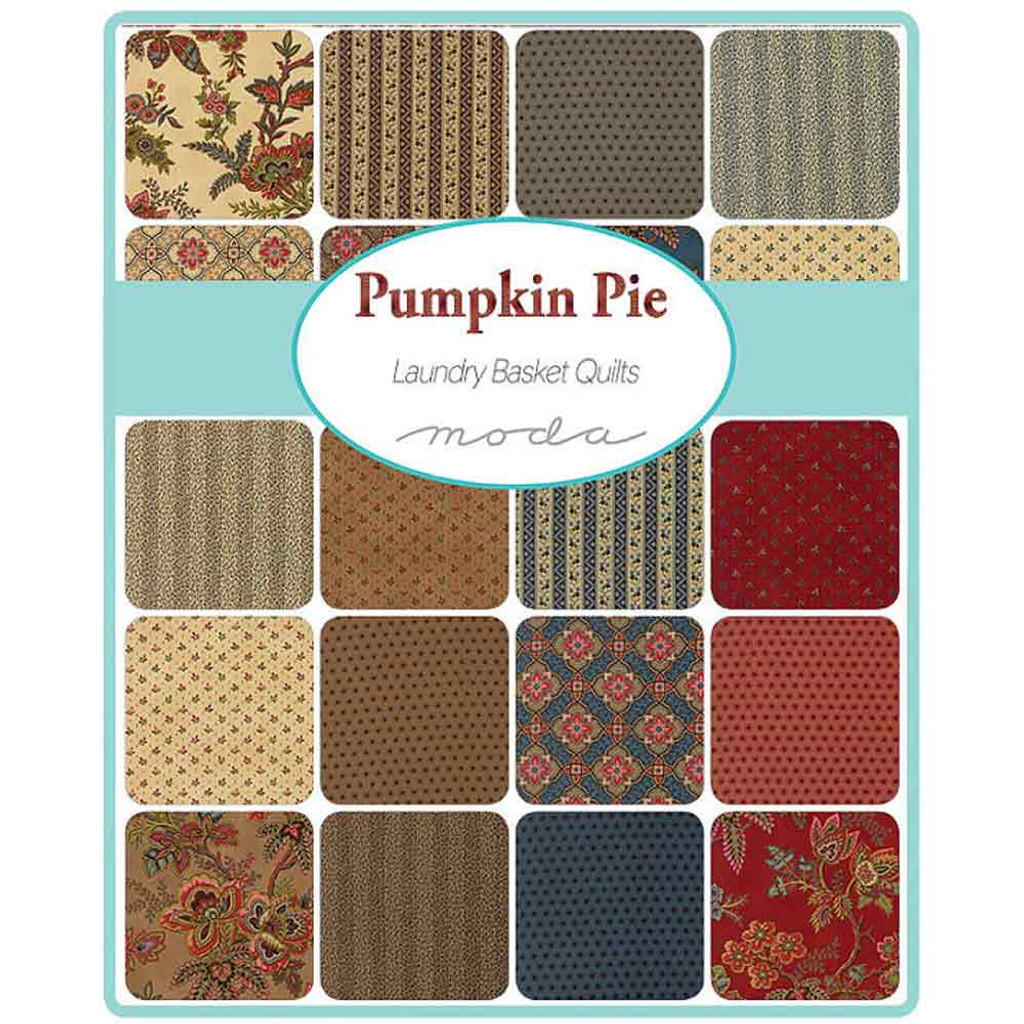Pumpkin Pie | Laundry Basket Quilts | Moda Fabrics | Layer Cake - The swatches available