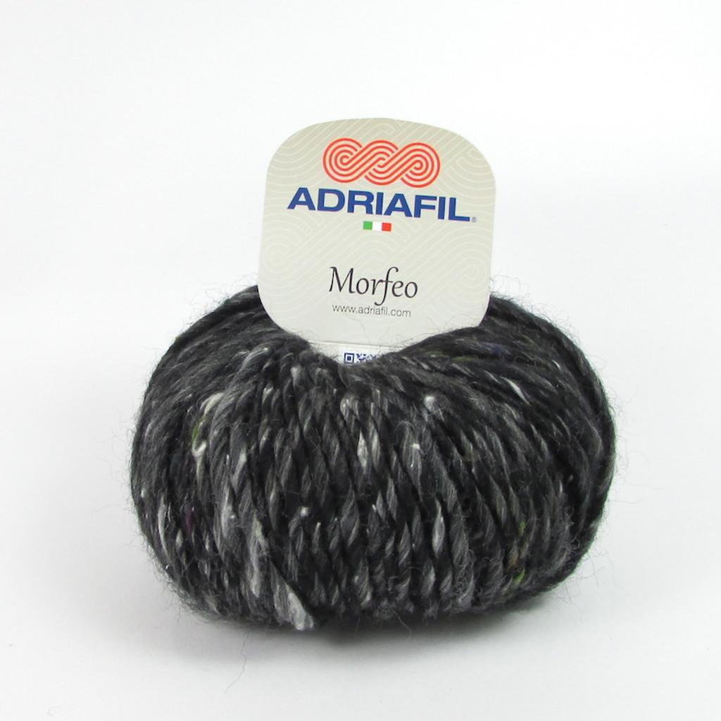 Adriafil Morfeo Aran / Chunky Knitting Yarn, 50g Balls | Various Shades - shade Black Marble