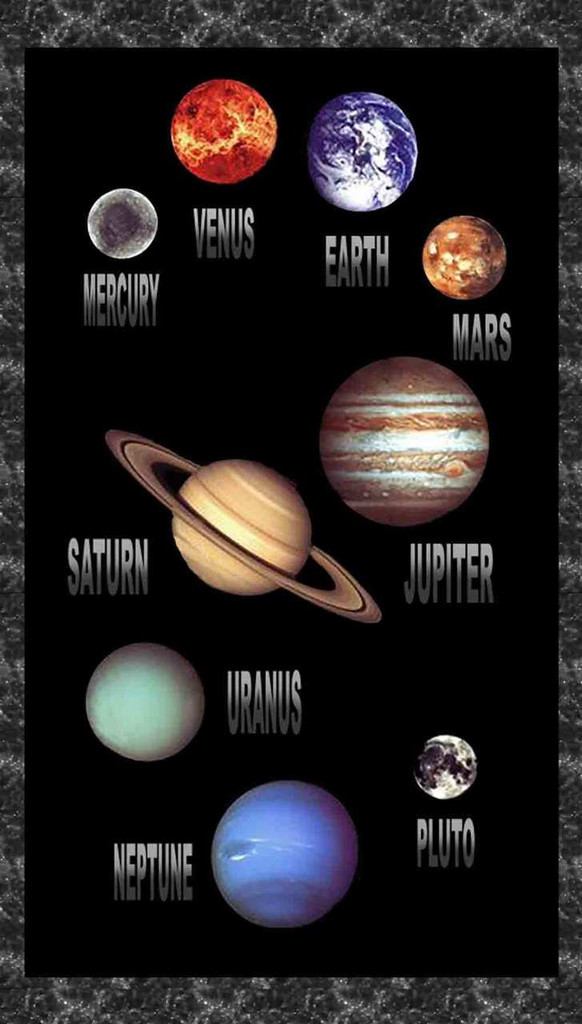 Cosmic Space Planets & Stars 100% Cotton Fabric | Blank Quilting | BL8452P-99 Panel