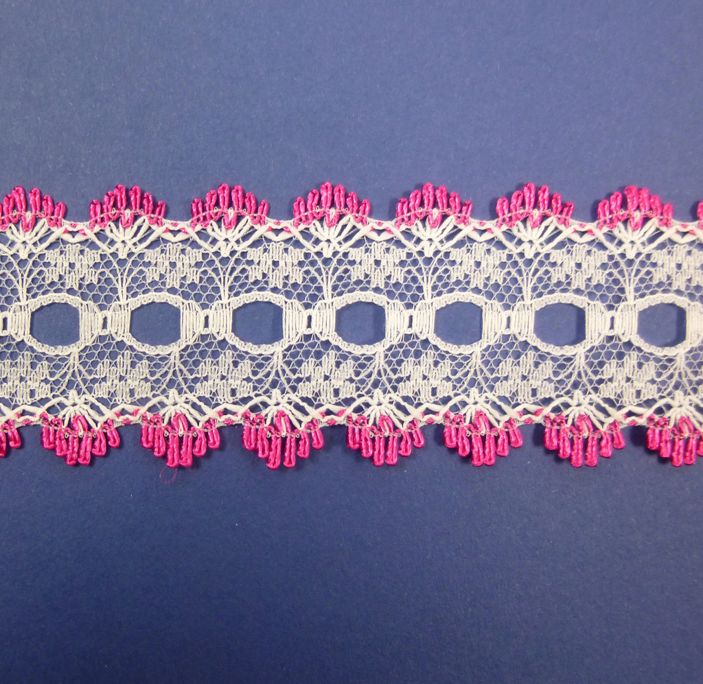 Eyelet Knitting in Lace 30mm - various colours | Cerise