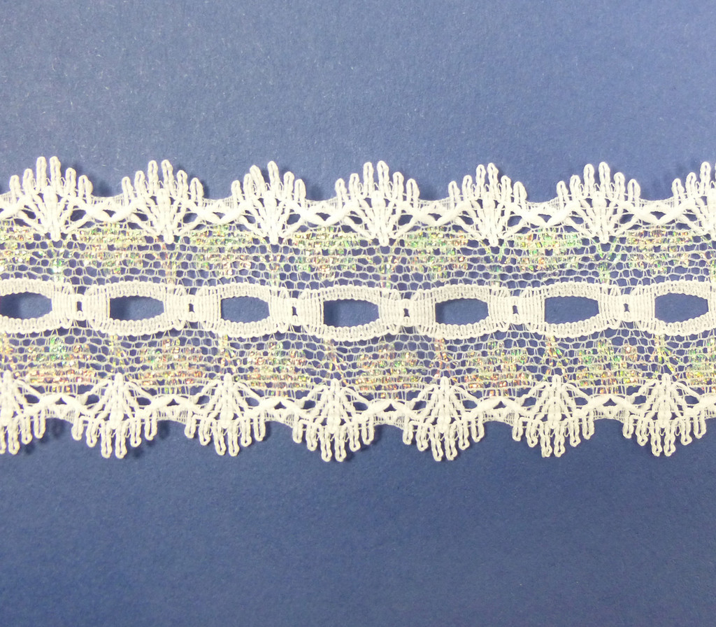Eyelet Knitting in Lace 30mm - various colours | Irridescent