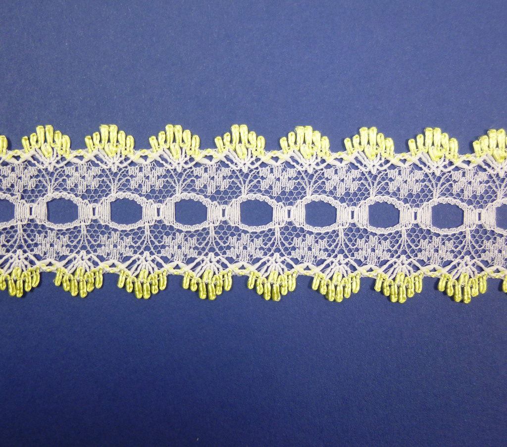 Eyelet Knitting in Lace 30mm - various colours | Lemon