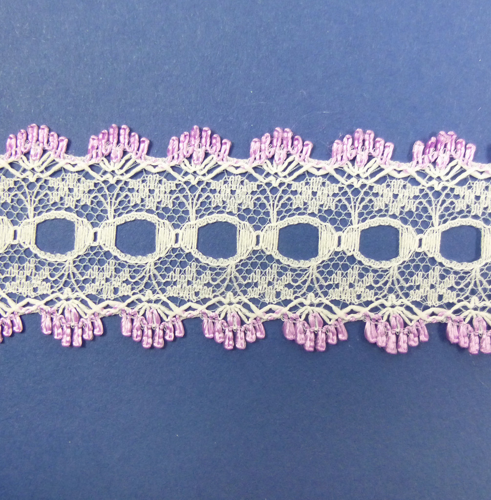 Eyelet Knitting in Lace 30mm - various colours | Lilac