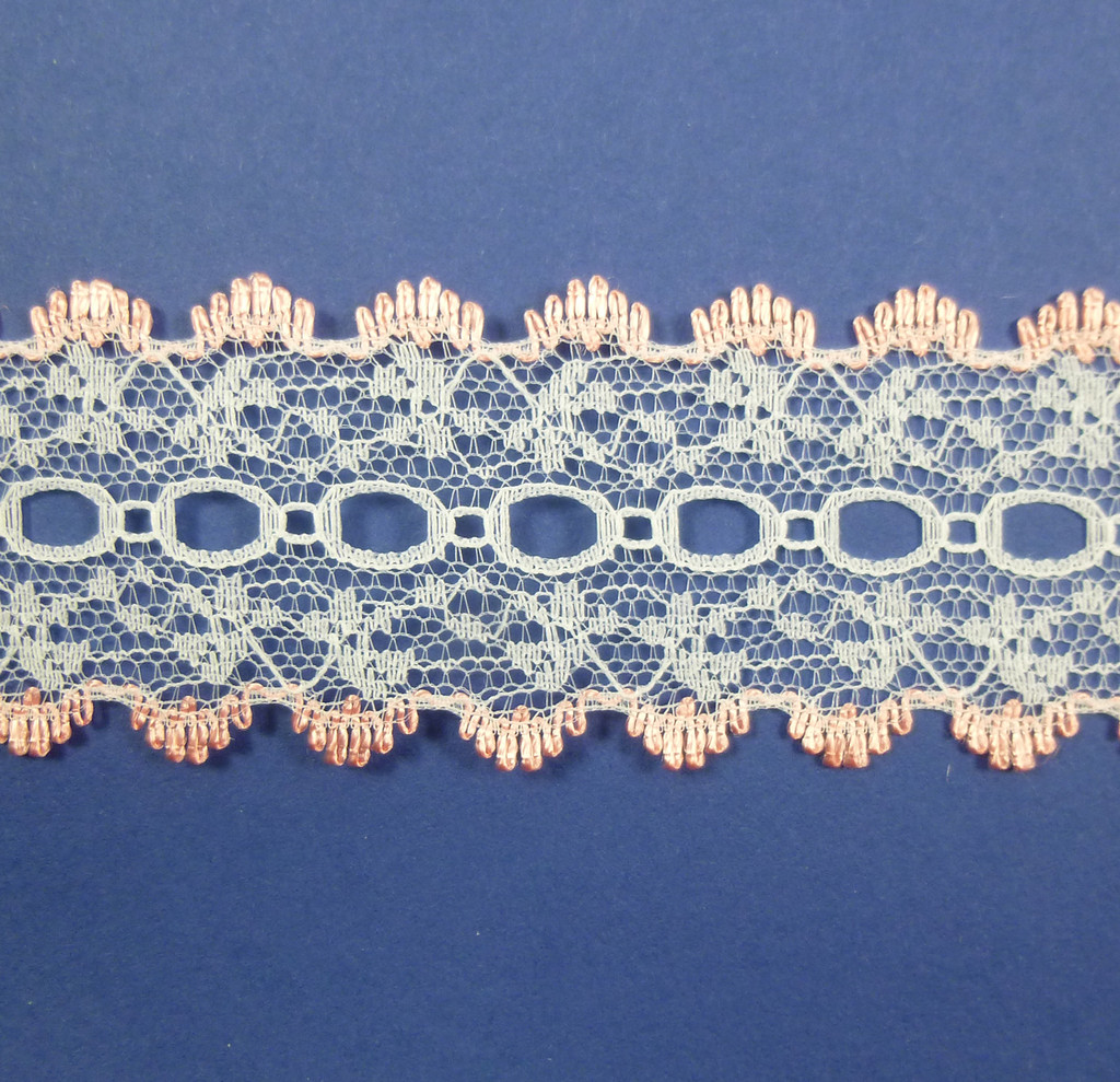 Eyelet Knitting in Lace 30mm - various colours | Peach