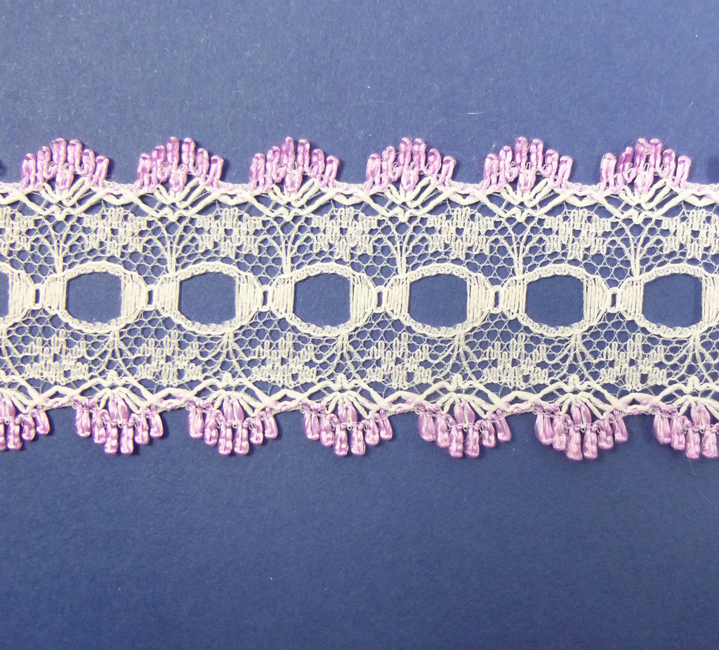 Eyelet Knitting in Lace 30mm - various colours | Deep Pink