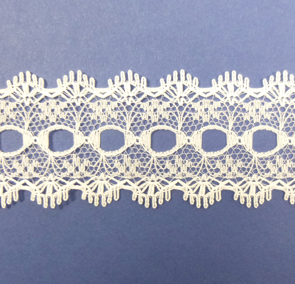 Eyelet Knitting in Lace 30mm - various colours | White