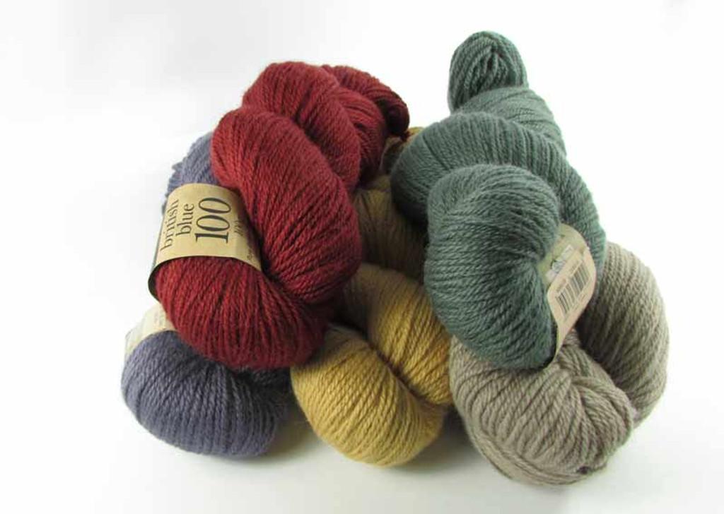 British Blue 100 Dk yarn | Erika Knight | 100g hanks | various shades