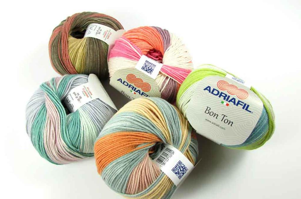 Adriafil Bon Ton 4 Ply Variegated Cotton Yarn, 50g Donuts | Various Shades