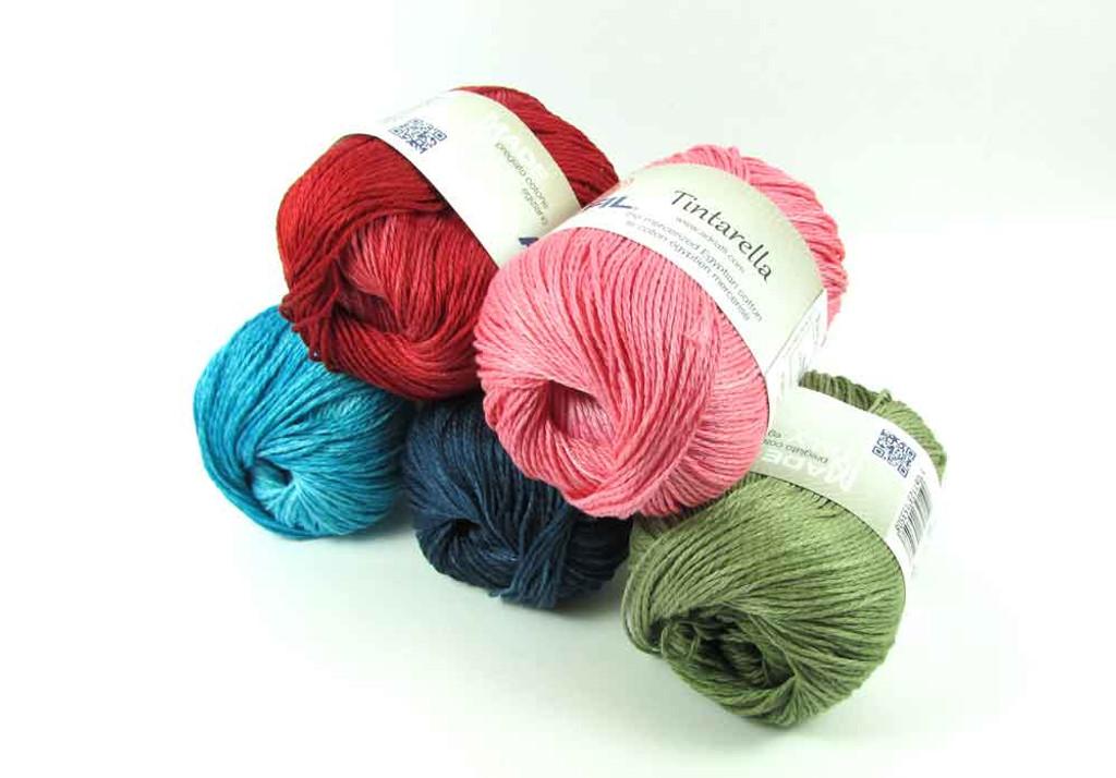Adriafil Tintarella DK Cotton Knitting Yarn, 50g balls | Various Shades - Main Image