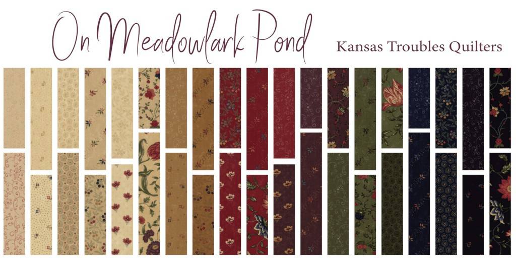 On Meadowlark Pond | Kansas Troubles Quilters | Moda Fabrics | Jelly Roll - Swatch collection 2