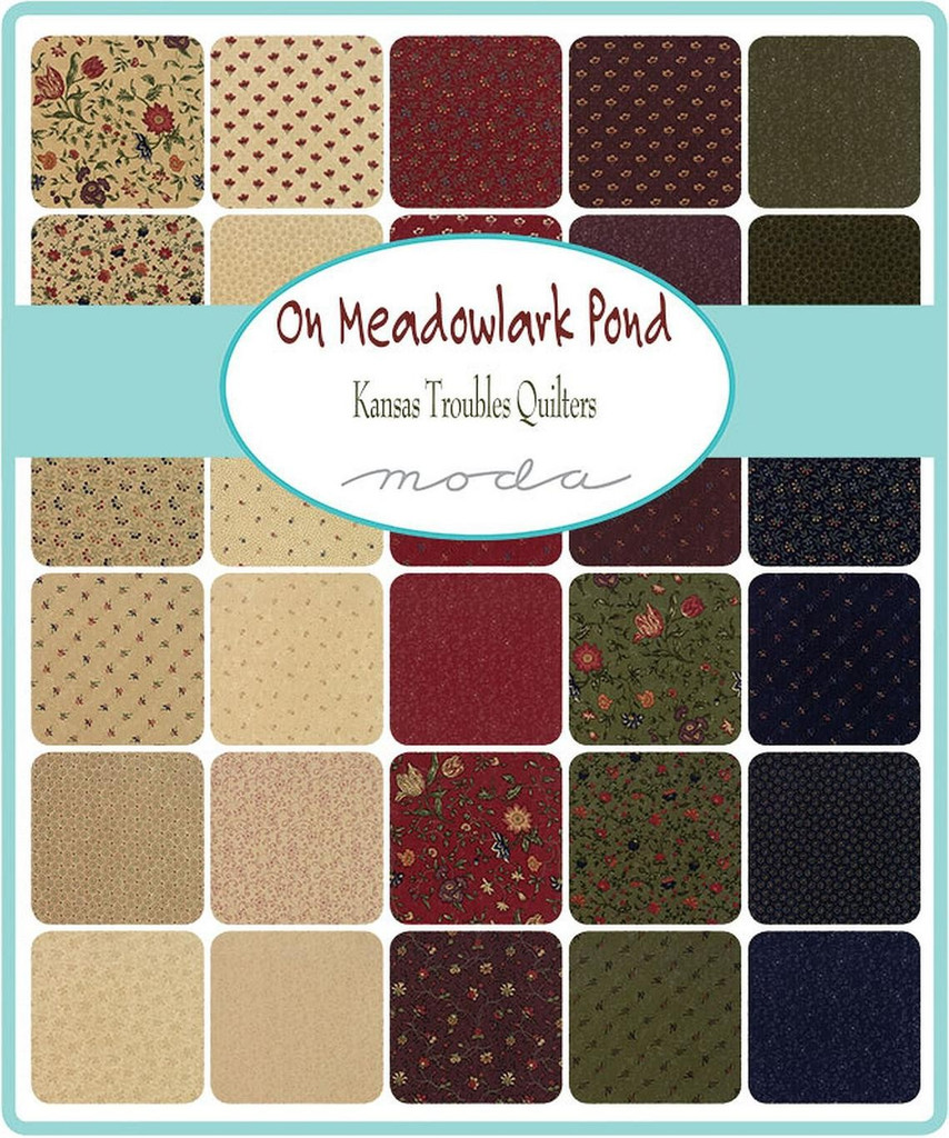 On Meadowlark Pond | Kansas Troubles Quilters | Moda Fabrics | Jelly Roll - Swatch collection