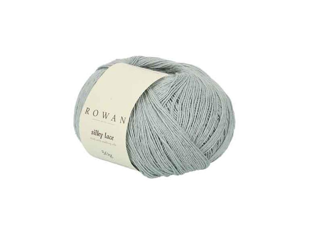 Rowan Silky Lace Weight Knitting Yarn, 50g Donuts | 0002 Aquamarine