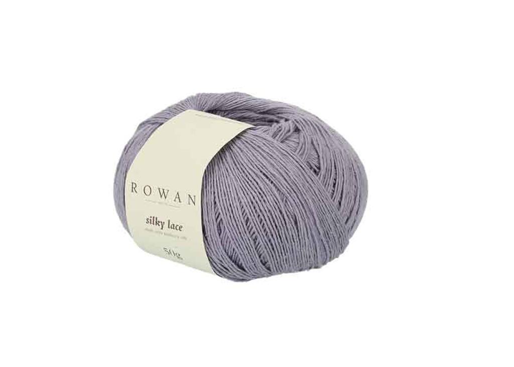 Rowan Silky Lace Weight Knitting Yarn, 50g Donuts | 0003 Amethyst