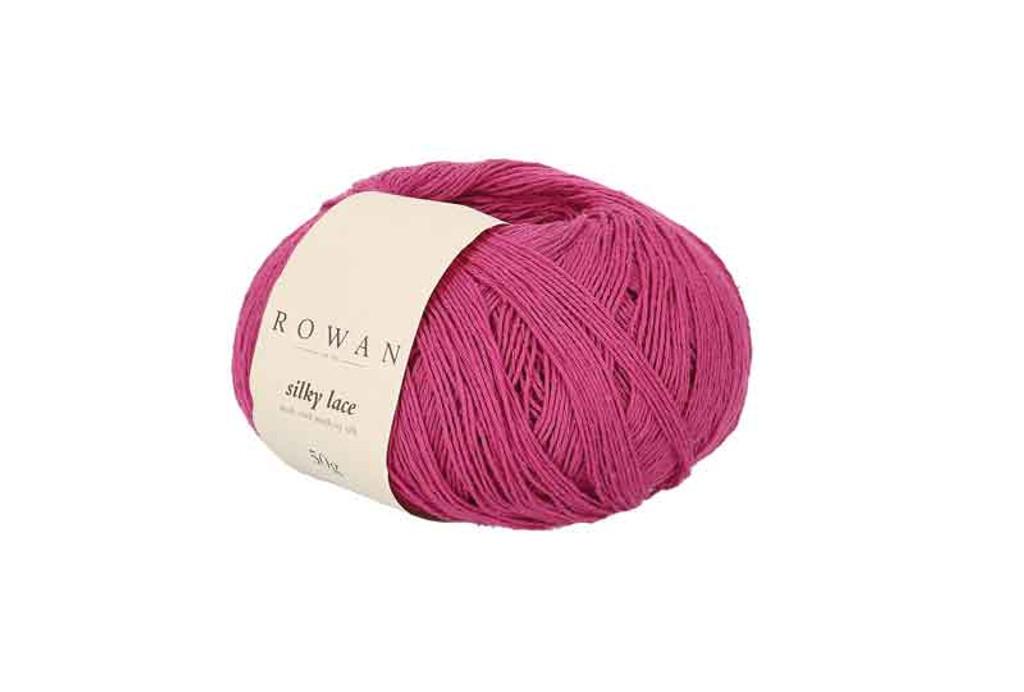 Rowan Silky Lace Weight Knitting Yarn, 50g Donuts | 0006 Spinel