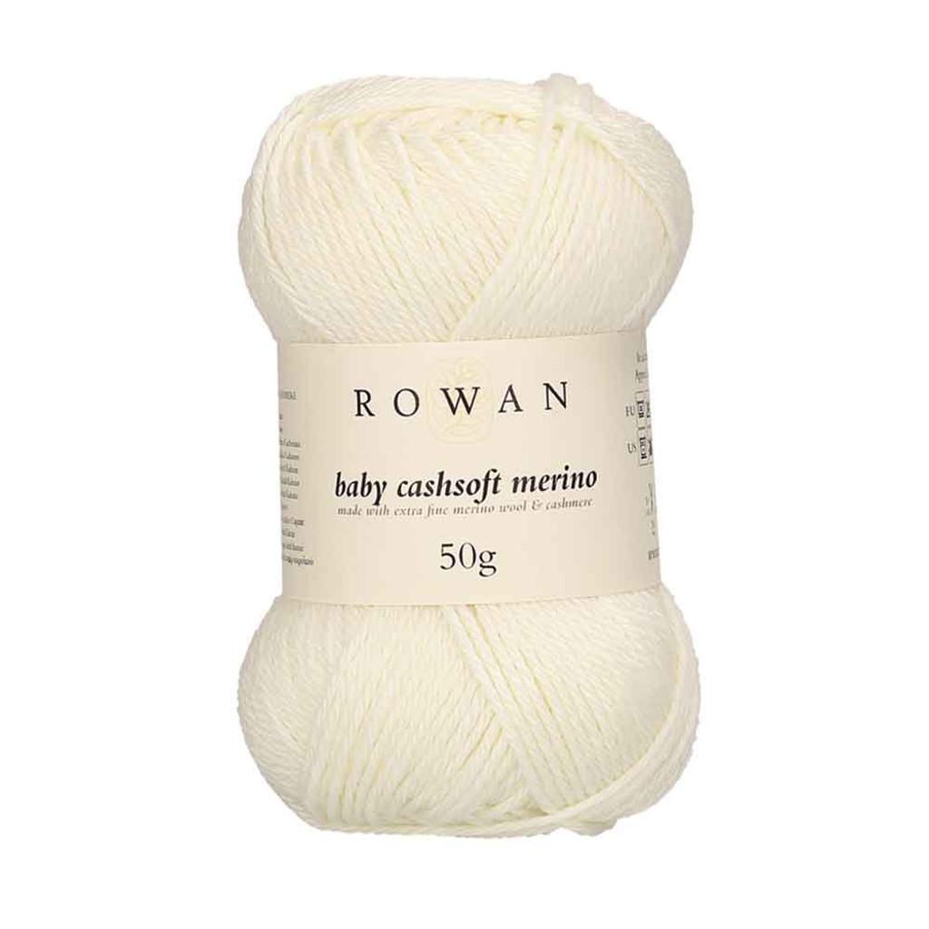 Rowan Baby Cashsoft Merino 4 Ply Yarn   101 Snowflake
