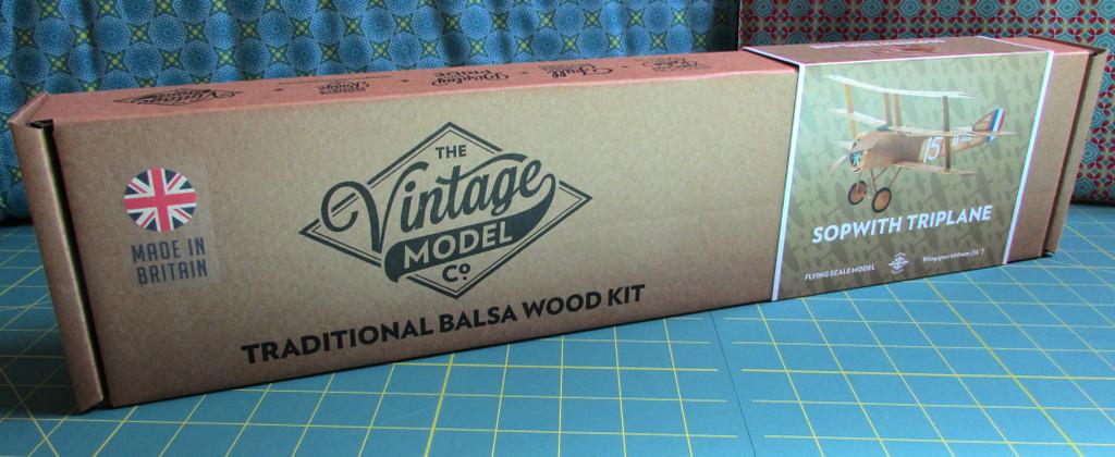 The Vintage Model Co. | Flying Model Kit | Sopwith Triplane | Box