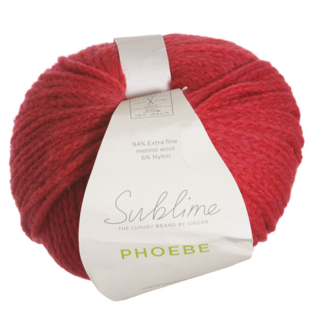 Sublime Phoebe Chunky Knitting Yarn | 535 Crimson