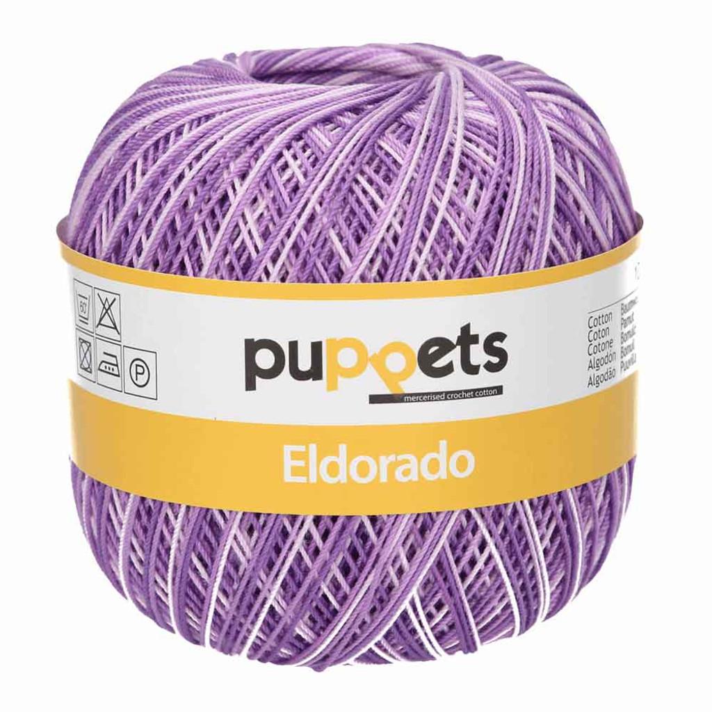 Anchor Puppets Eldorado 50g Crochet Yarn 10 Tkt  | Purple Mix