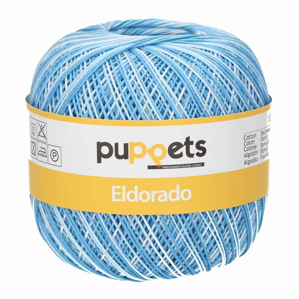 Anchor Puppets Eldorado 50g Crochet Yarn 10 Tkt  |  Sky Blue