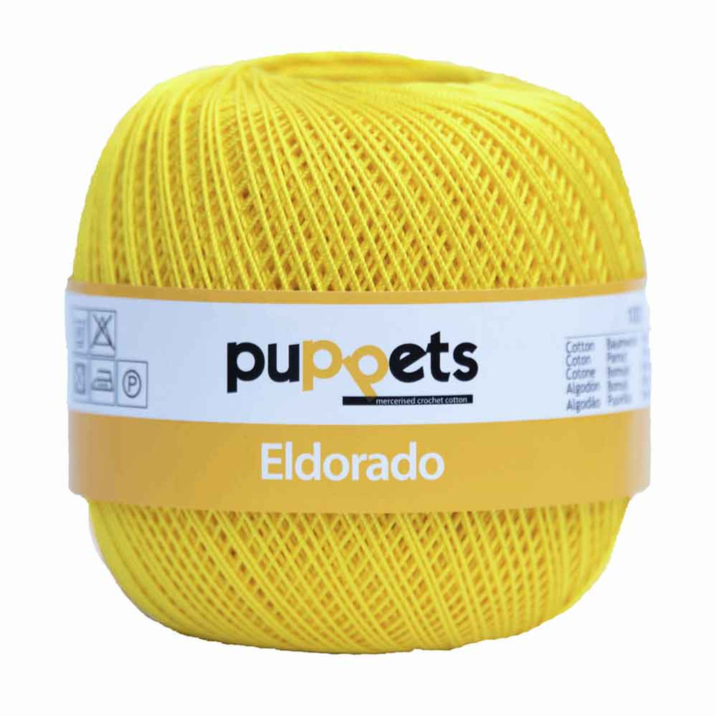 Anchor Puppets Eldorado 50g Crochet Yarn 10 Tkt  | Bright Yellow