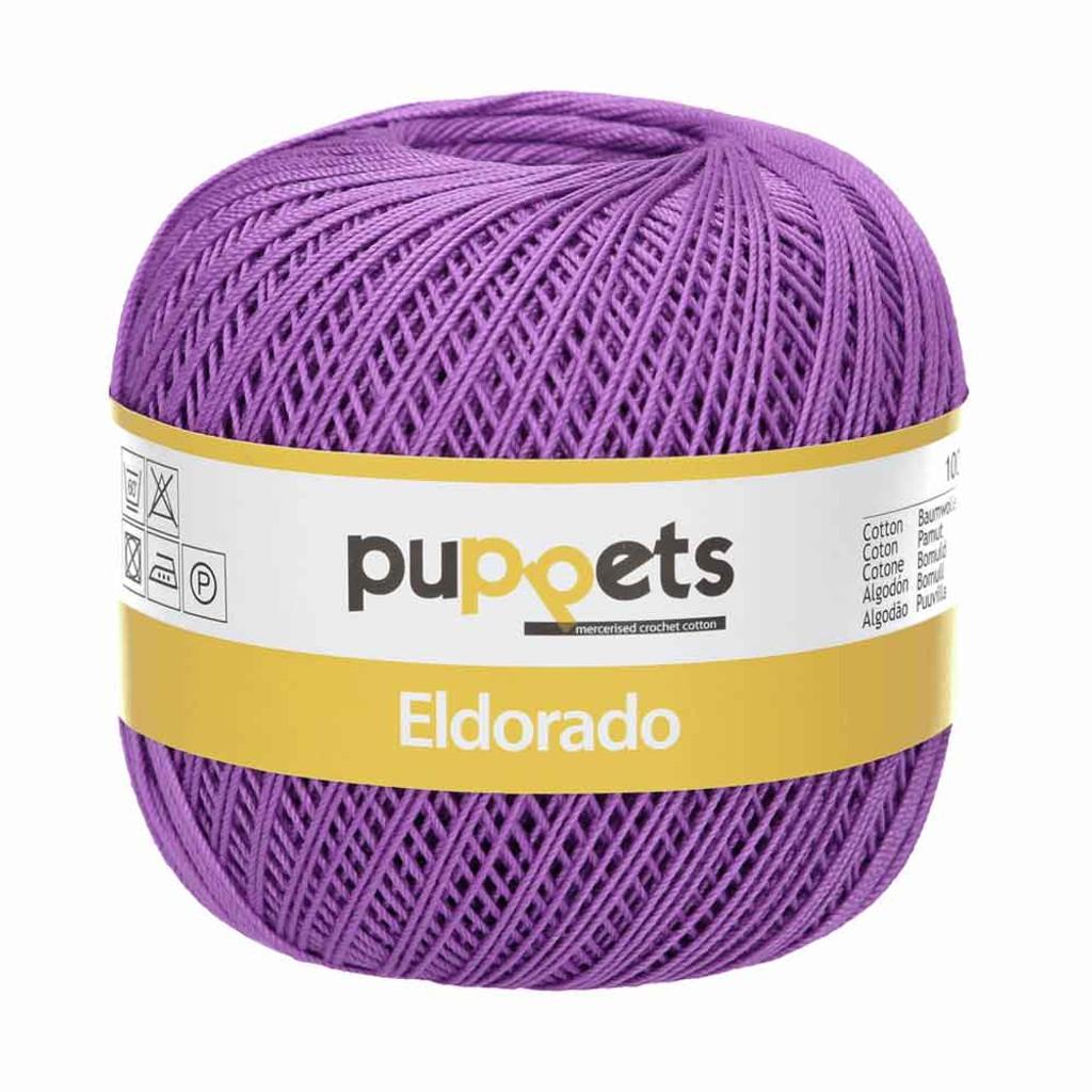 Anchor Puppets Eldorado 50g Crochet Yarn 10 Tkt  | Purple