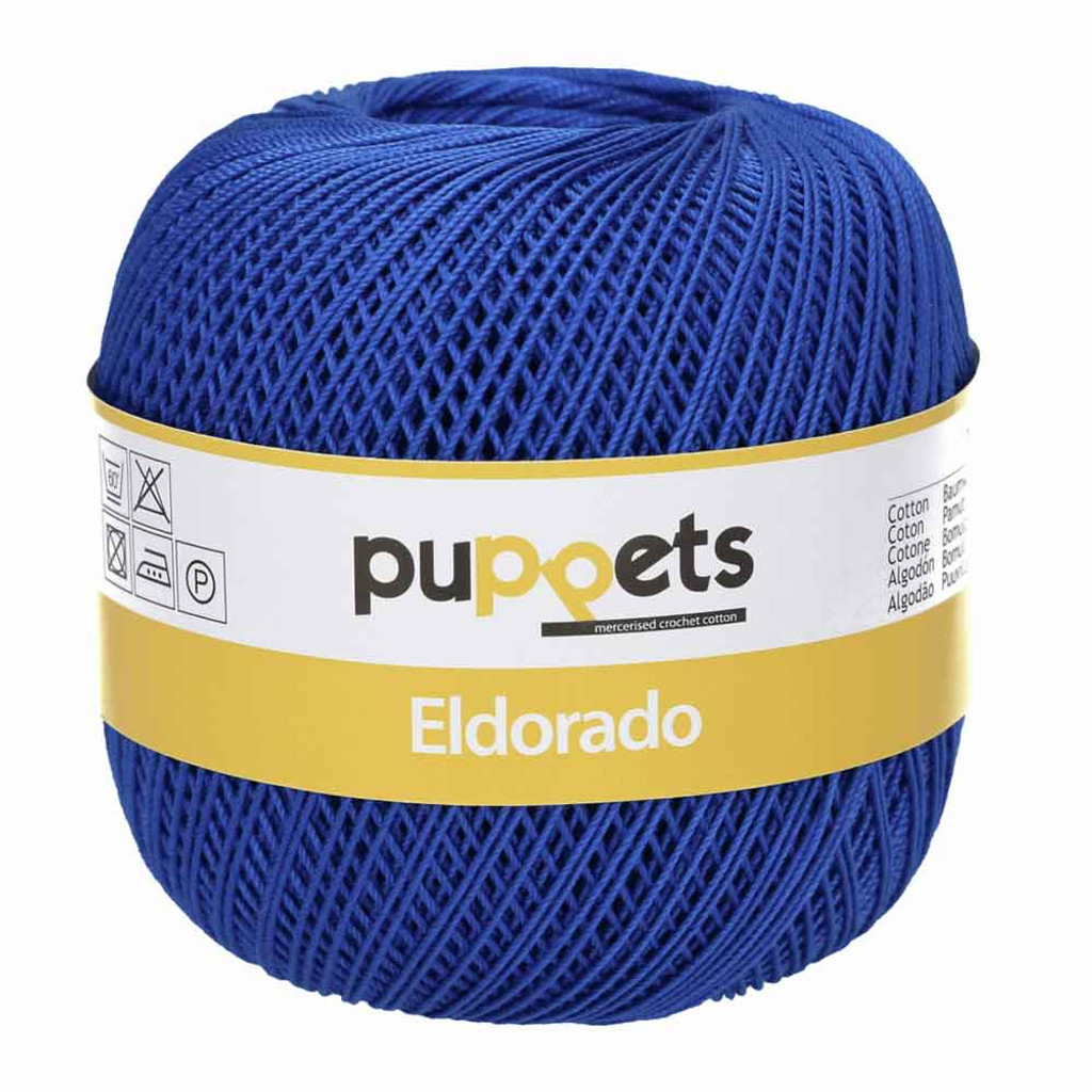 Anchor Puppets Eldorado 50g Crochet Yarn 10 Tkt  | Royal Blue