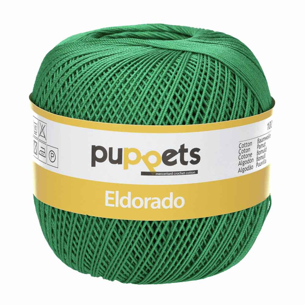 Anchor Puppets Eldorado 50g Crochet Yarn 10 Tkt  | Emerald