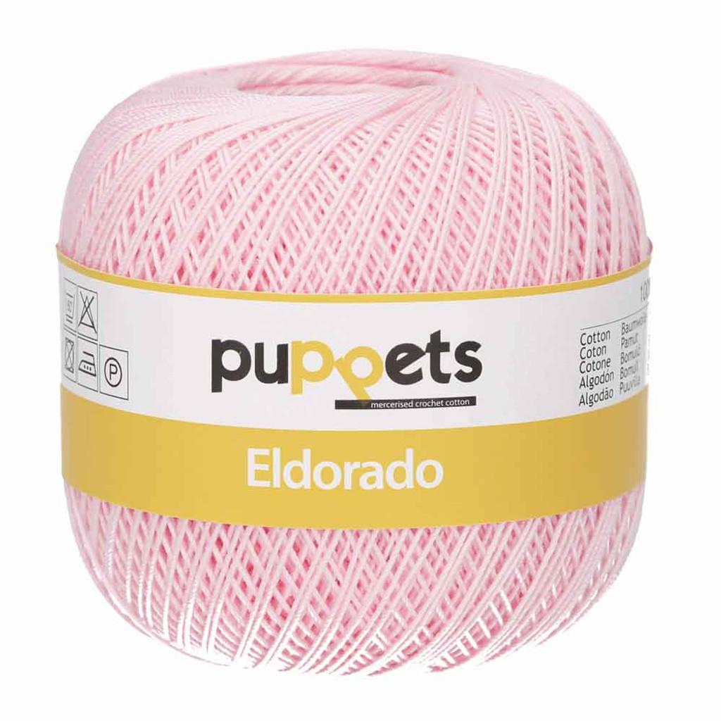 Anchor Puppets Eldorado 50g Crochet Yarn 10 Tkt  | Pale Pink