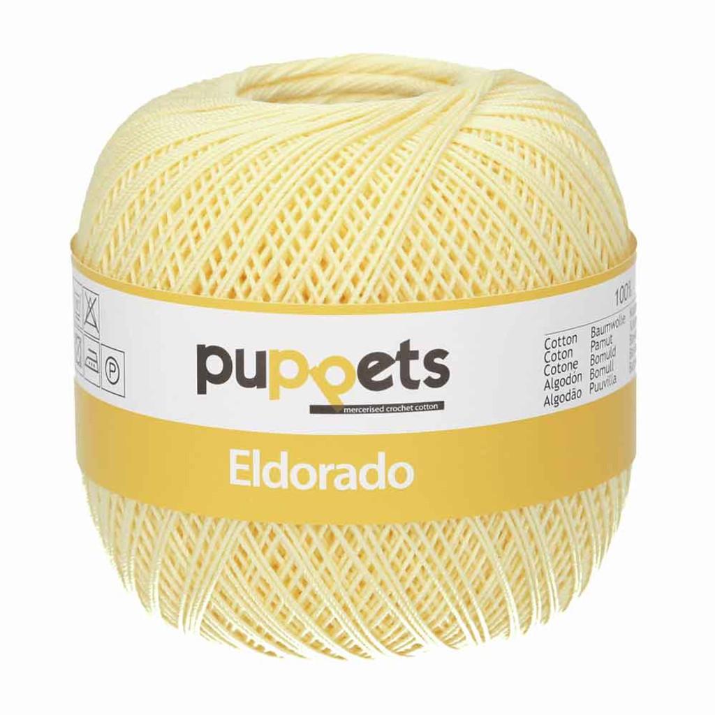 Anchor Puppets Eldorado 50g Crochet Yarn 10 Tkt  | Pale Yellow
