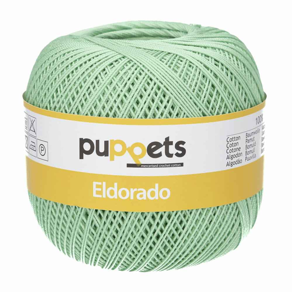 Anchor Puppets Eldorado 50g Crochet Yarn 10 Tkt  | 7518 Pale Green