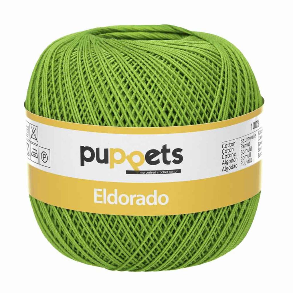 Anchor Puppets Eldorado 50g Crochet Yarn 10 Tkt  | 8255 Green