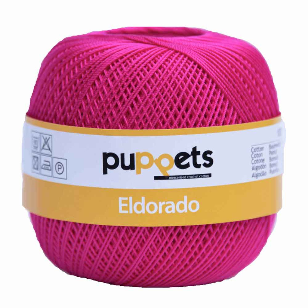 Anchor Puppets Eldorado 50g Crochet Yarn 10 Tkt  | 8313 Cerise