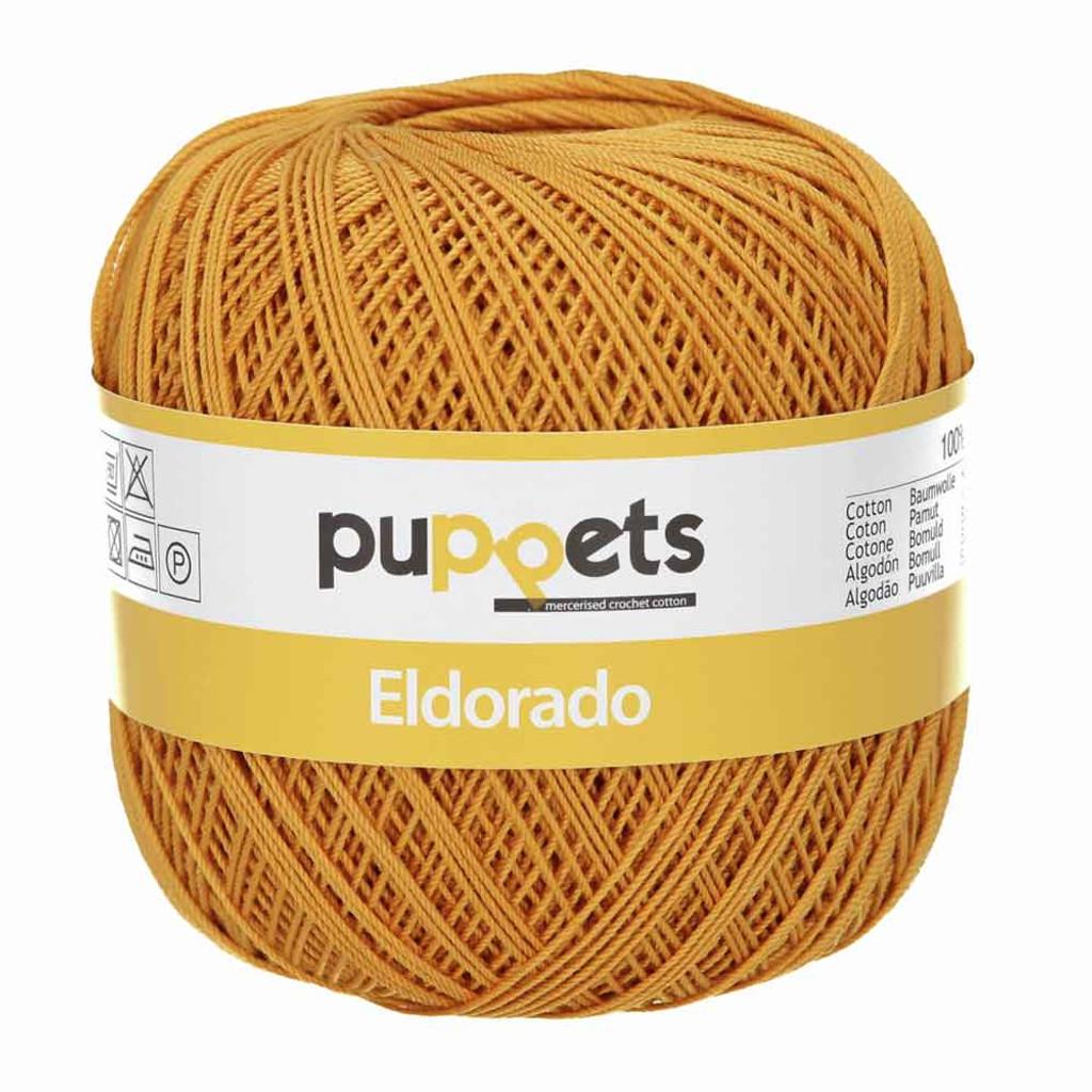 Anchor Puppets Eldorado 50g Crochet Yarn 10 Tkt  | 9532 Dark Gold