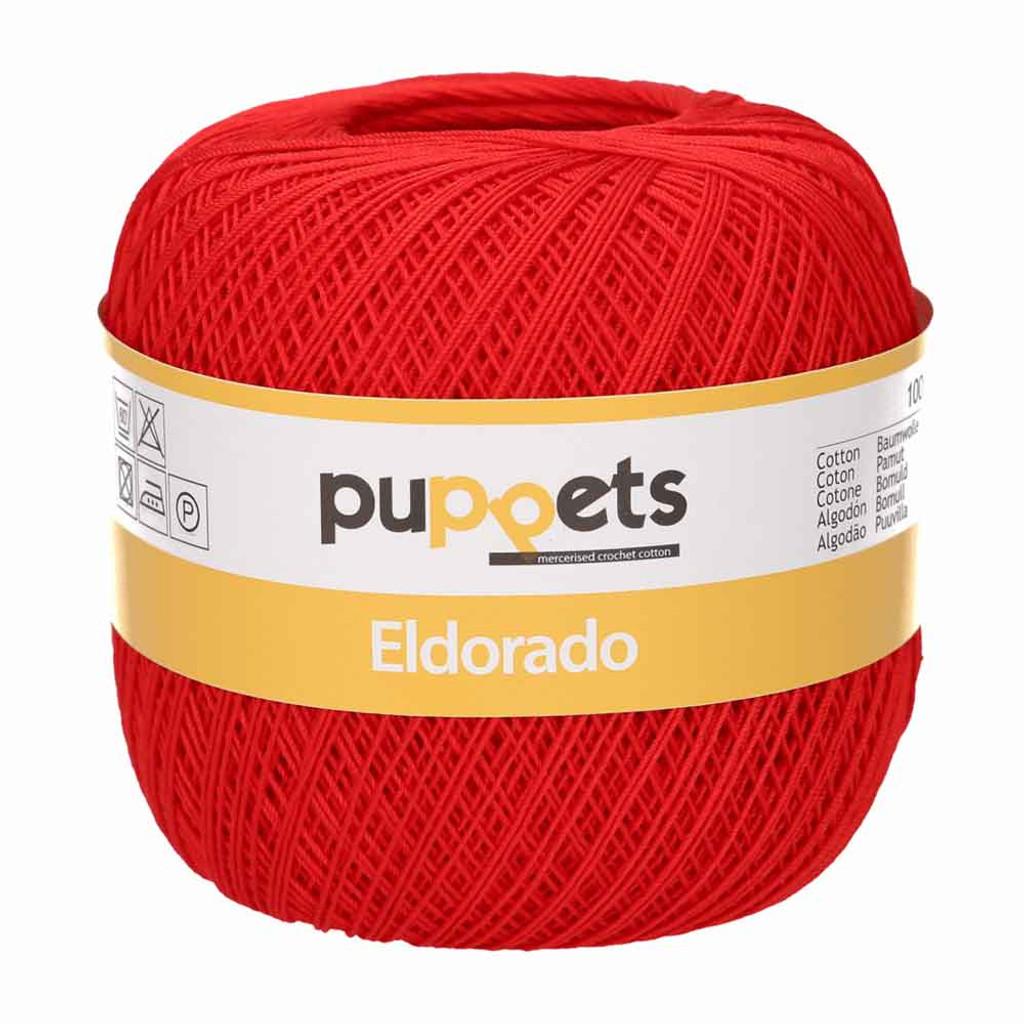 Anchor Puppets Eldorado 50g Crochet Yarn 16 Tkt | 7046 Red