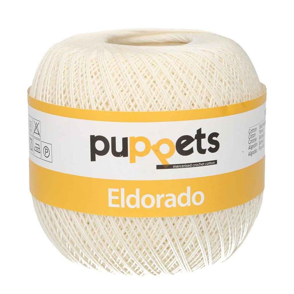 Anchor Puppets Eldorado 50g Crochet Yarn 16 Tkt | 8926 Cream