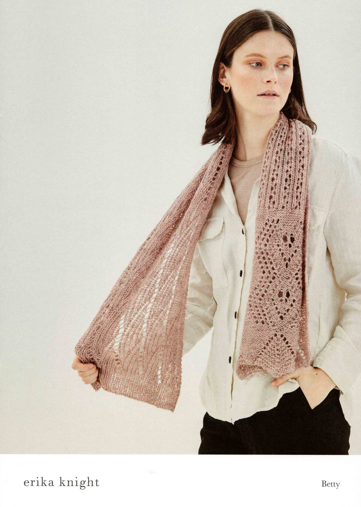 Betty Lace Scarf Knitting Pattern | Erika Knight Wool Local