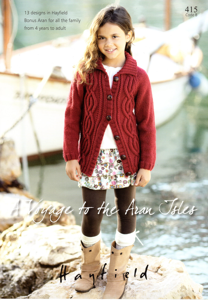 A Voyage to The Aran Isles | 13 designs in Bonus Aran for the family | Hayfield Aran (415)