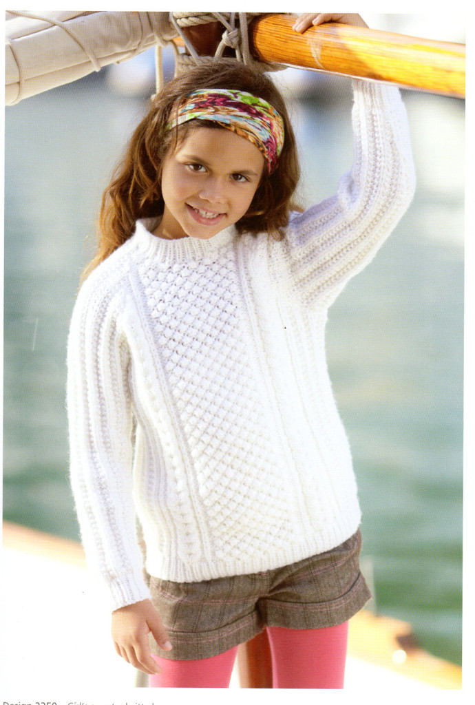 A Voyage to The Aran Isles | 13 designs in Bonus Aran for the family | Hayfield Aran (415) - Bramble Stitch Sweater