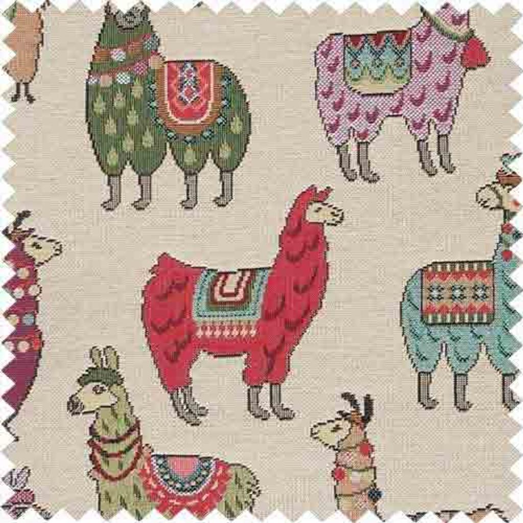 Multi-coloured Jaquard Llama Knitting / Crochet Storage Bag - The pattern