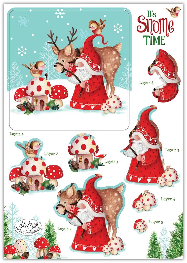 Craft Consortium | It's Snome Time | 3D Decoupage & Topper Set