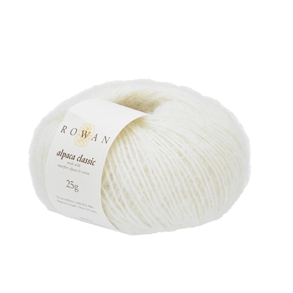Rowan Alpaca Classic Dk Yarn, 25g Balls | 115 Snowflake White