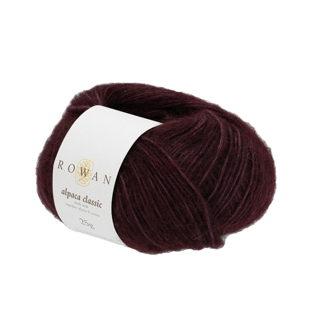 Rowan Alpaca Classic Dk Yarn, 25g Balls | 122 Dark Burgundy