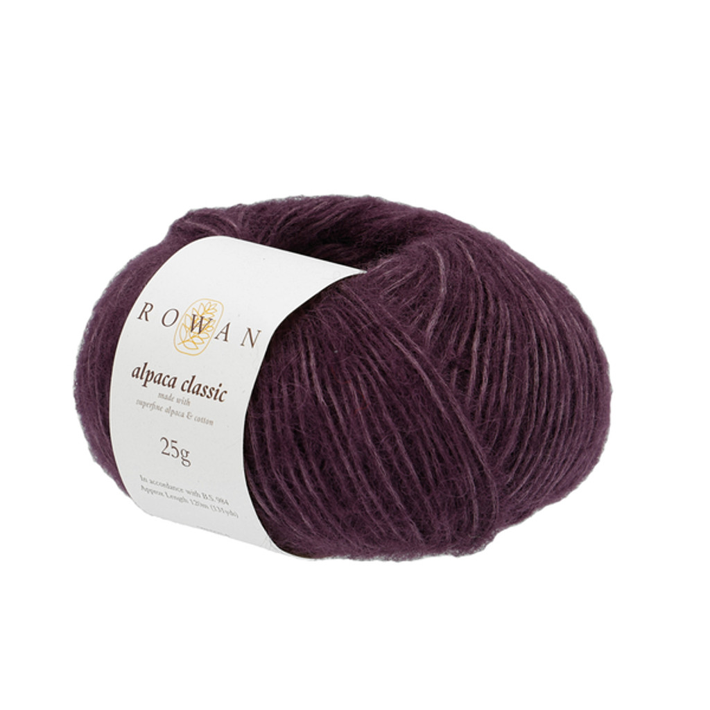 Rowan Alpaca Classic Dk Yarn, 25g Balls | 123 Purple Rain
