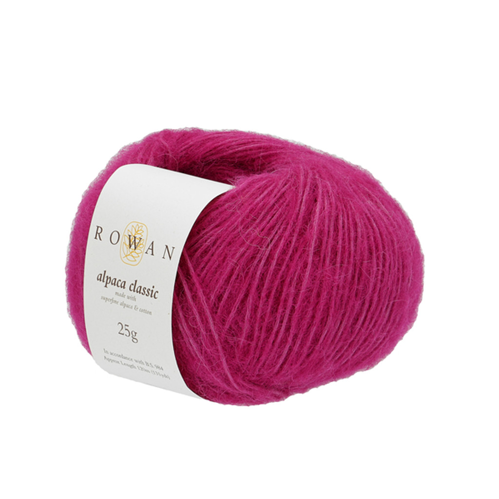Rowan Alpaca Classic Dk Yarn, 25g Balls | 124 Pink Lips
