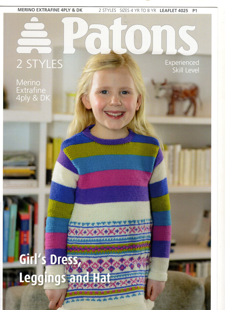 Patons | Knitting Patterns | Girls dress, leggings and hat