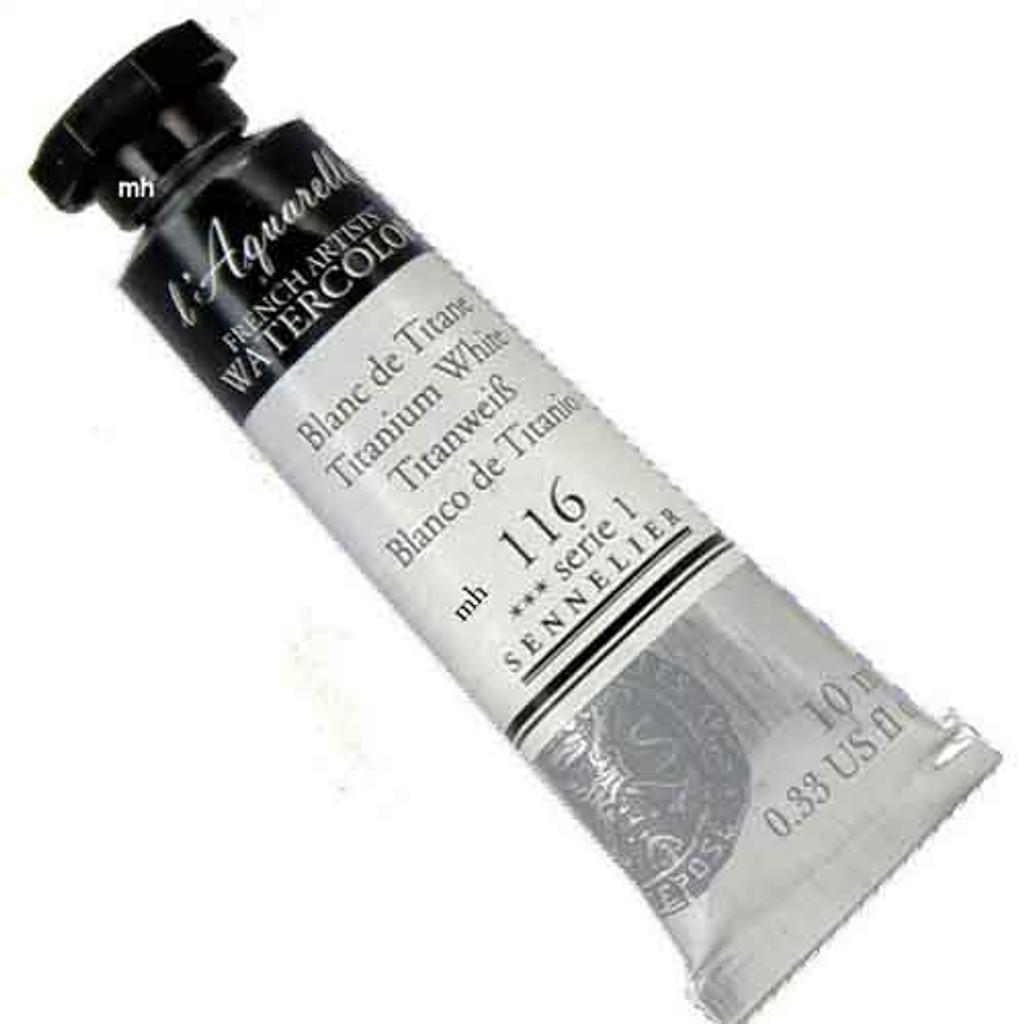 Sennelier l'Aquarelle Watercolour 10ml Tubes | Titanium White 116 S1