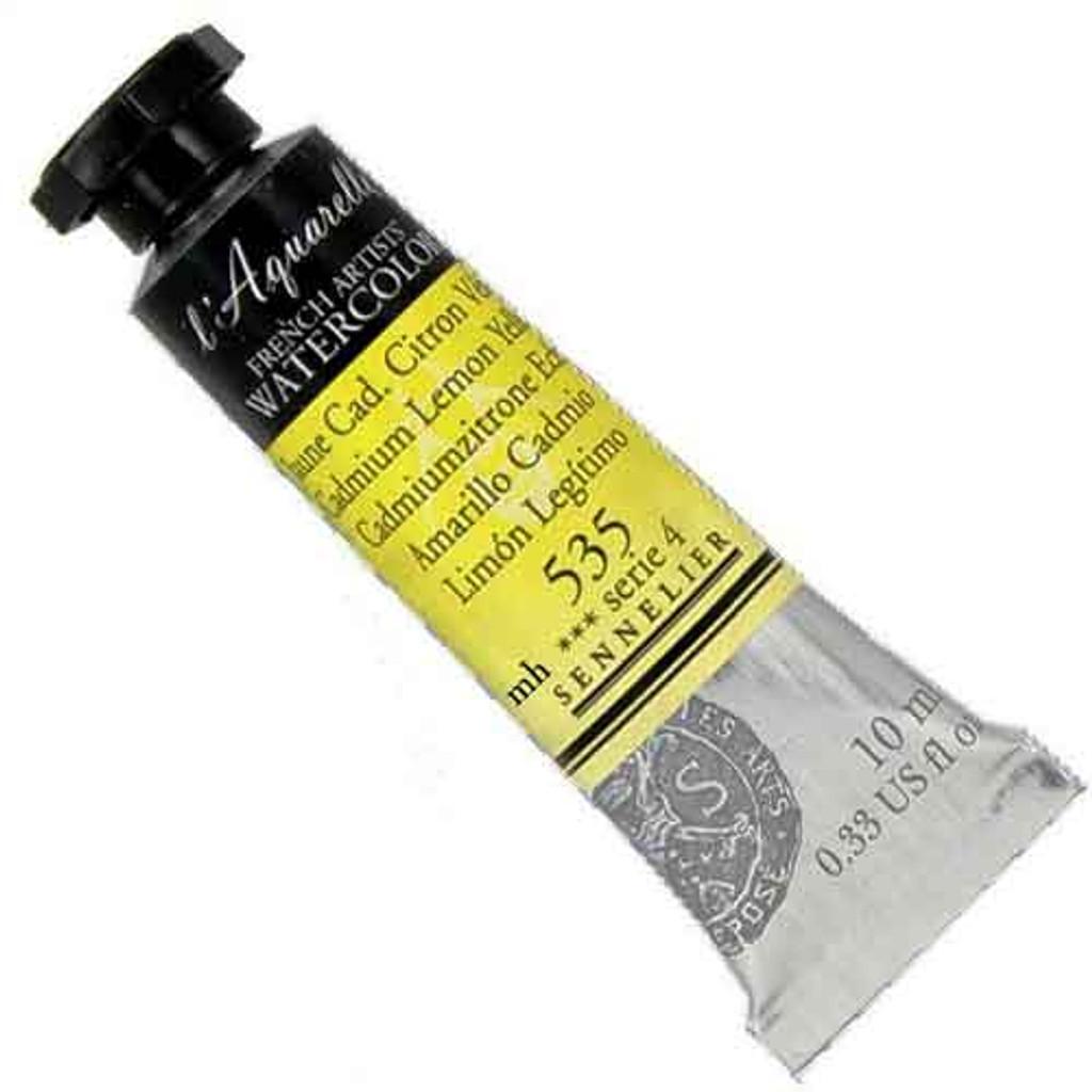 Sennelier l'Aquarelle Watercolour 10ml Tubes | Cadmium Lemon Yellow 535 S4